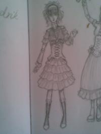 My drawing - Rorita dress 1