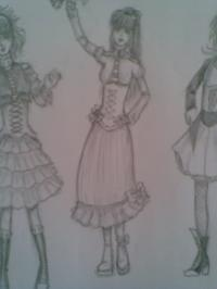 My drawing - Rorita dress 2
